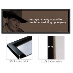 Framed John Wayne Poster Quote Courage Saddle FrSp0174