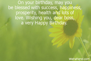 birthday quotes for boss Personalize any greeting.