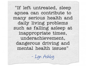 Quote about How sleep apnea can affect your brain