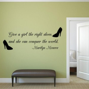 Right Shoe Quote Wall Decal