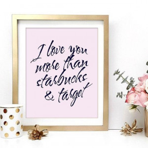 Starbucks & Target Love Inspirational Wall Art