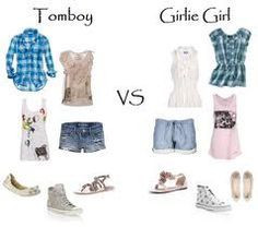 tomboy vs girlie girl More