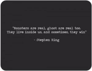 Favourite Stephen King quote - -