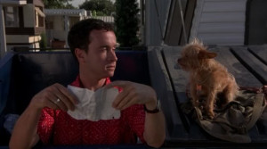 Pauly Shore and his companion Peanut in Jury Duty .