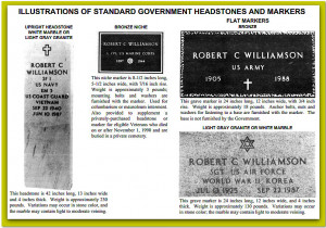 ... of government headstones available for the graves of military veterans