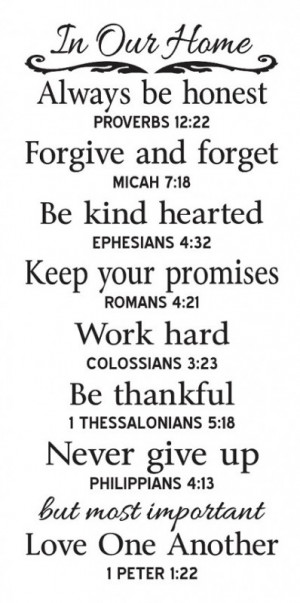 ... In Our Home Family Rules with Bible Verses by OaklandStencil, $21.95