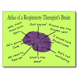 Atlas of a Respiratory Therapist's Brain Postcard