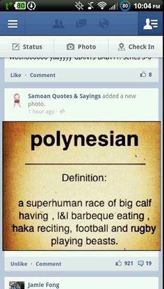Samoans ;) More
