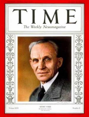 时代周刊》封面人物亨利·福特