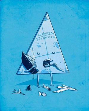 Hee hee... Bermuda triangle...