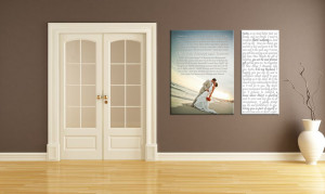 ... and Quotes on Family and Love canvas wall art your words photos
