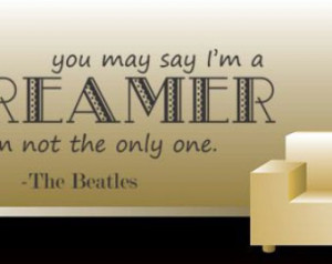 Beatles Quote Wall Decal / Vinyl St icker | Band Song Lyrics Art Decor ...
