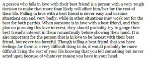 friend quotes | Falling in love with your best guy friend :) | Quotes ...