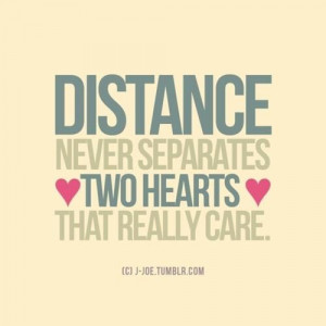 Love at long distance quote
