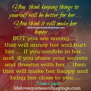 Keeping Things To Yourself..