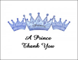 Prince Charming Thank You Cards areBecoming Very Popular!
