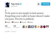 ... Class, Poverty, Link, Cole Following, Finding, Feminism, Teju Cole