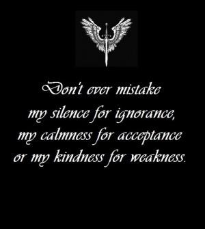 For Ignorance Calmness