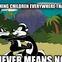 Reminds me of Pepe Le Pew