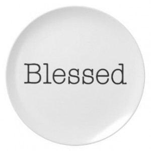 Blessed Quotes Inspirational Faith Quote Party Plates