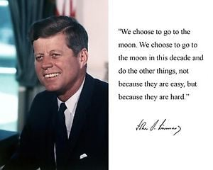 President-John-F-Kennedy-JFK-Moon-Quote-Autograph-11-x-14-Photo ...