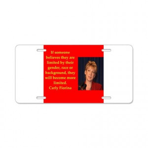 2016 Gifts > 2016 Auto > carly fiorina quote Aluminum License Plate