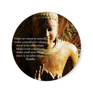 Zen Buddhist Quote, Saying and Words of Wisdom Classic Round Sticker