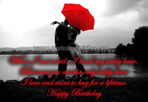 husband Cute and Romantic Happy Birthday wishes for Boyfriend, husband ...