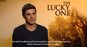zac efron quote true the lucky one such an amazing person