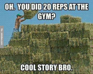You did 20 reps at the gym – meme