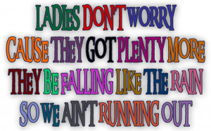 Raining Men - Rihanna Song Lyric Quote in Text Image