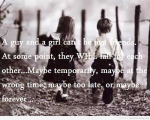 ... girl friendship quotes quotes about girls and boys cant be friends guy