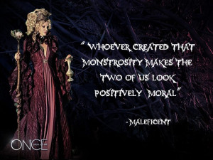 Maleficent is played by Kristin Bauer van Straten.