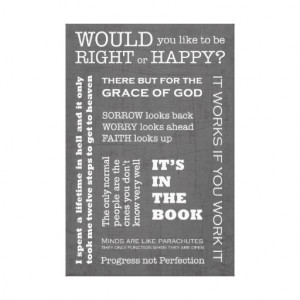 AA Sayings & Slogans 4 Canvas Gallery Wrap Canvas