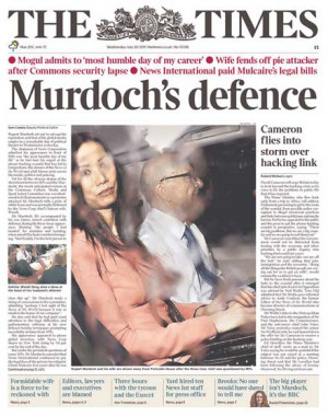 Of London Showed A Photo Murdoch With His Wife Wendi Deng