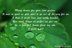 heartfelt thank you letter