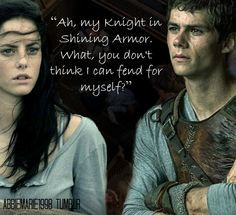 "... think I can fend for myself?"" ― James Dashner, The Maze Runner"