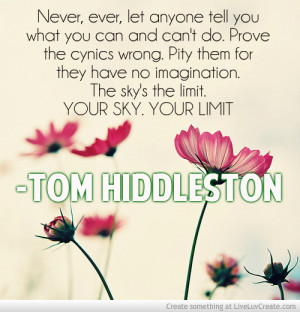 Tom Hiddleston Quote 2