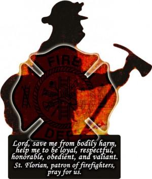 Fireman's Prayer Cut-Out Visor Clip (VCC-FIRE)