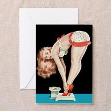 Weighing Girl Greeting Card for