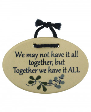 Inspirational Wall Plaques: Together Quote (Usa)