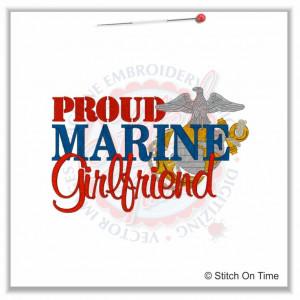 5191 Sayings : Proud Marine Girlfriend 5x7