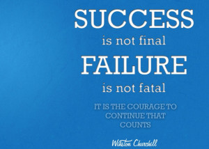 Quote on success and failure by Winston Churchill
