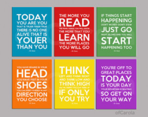 Dr Seuss Quote Prints Nursery Print Wall Art - PERSONALIZED Print ...