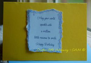 Card Making ~ Handmade Birthday Card