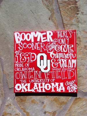 Another fun Oklahoma Sooner tradition canvas!