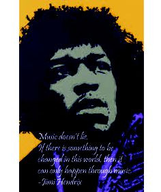 Music ♪♫ Quotes by Jimi Hendrix - Music is a safe kind of high ...