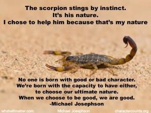Sand Scorpion Sting But the scorpion stung him