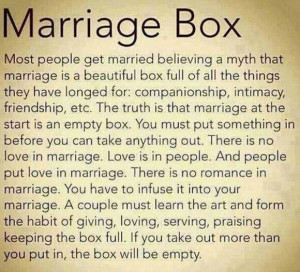 marriage #box #love #quote