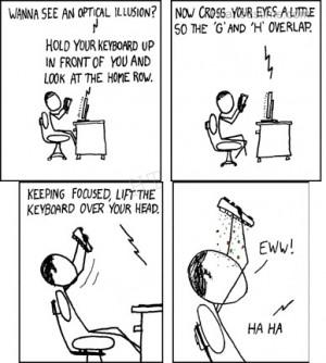Funny keyboard cartoons